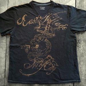 Dkny Shirts - DKNY Jeans East Village NY City VNeck Graphic Tees